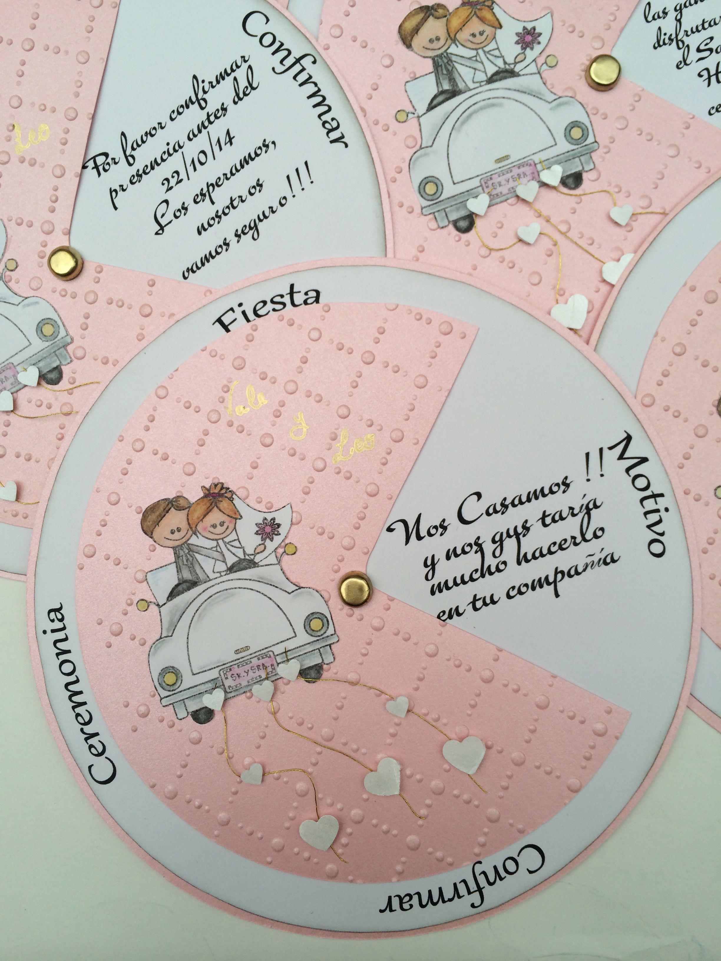 Invitaciones De Casamiento Circulares Vale Y Leo