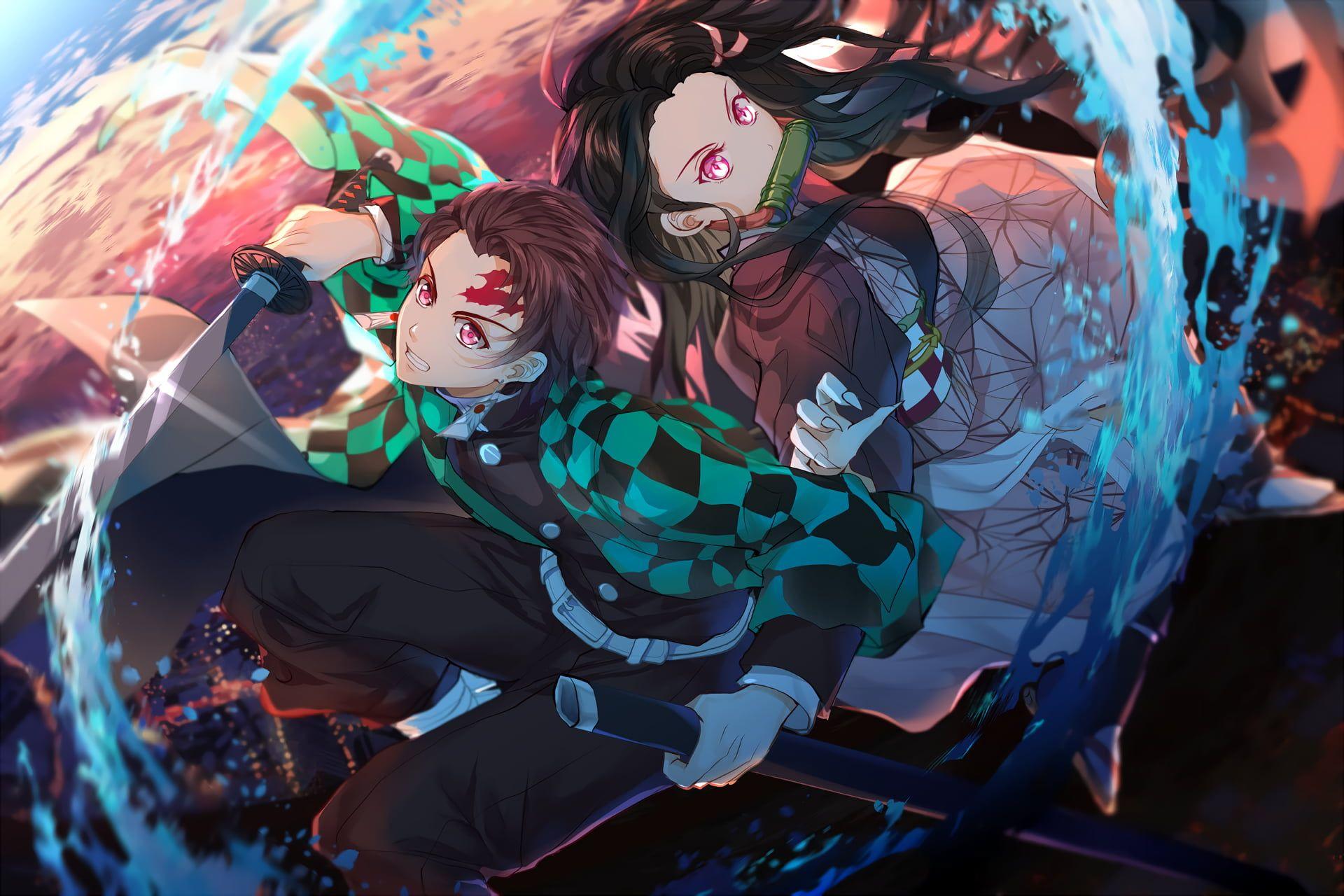 Kimetsu No Yaiba Tanjiro Kamado Anime Kamado Nezuko 1080p Wallpaper Hdwallpaper Desktop Anime Anime Images Anime Demon
