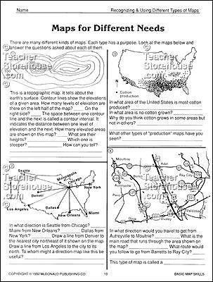 mc r651 mcdonald publishing basic map skills reproducible book teacher 39 s corner map skills. Black Bedroom Furniture Sets. Home Design Ideas