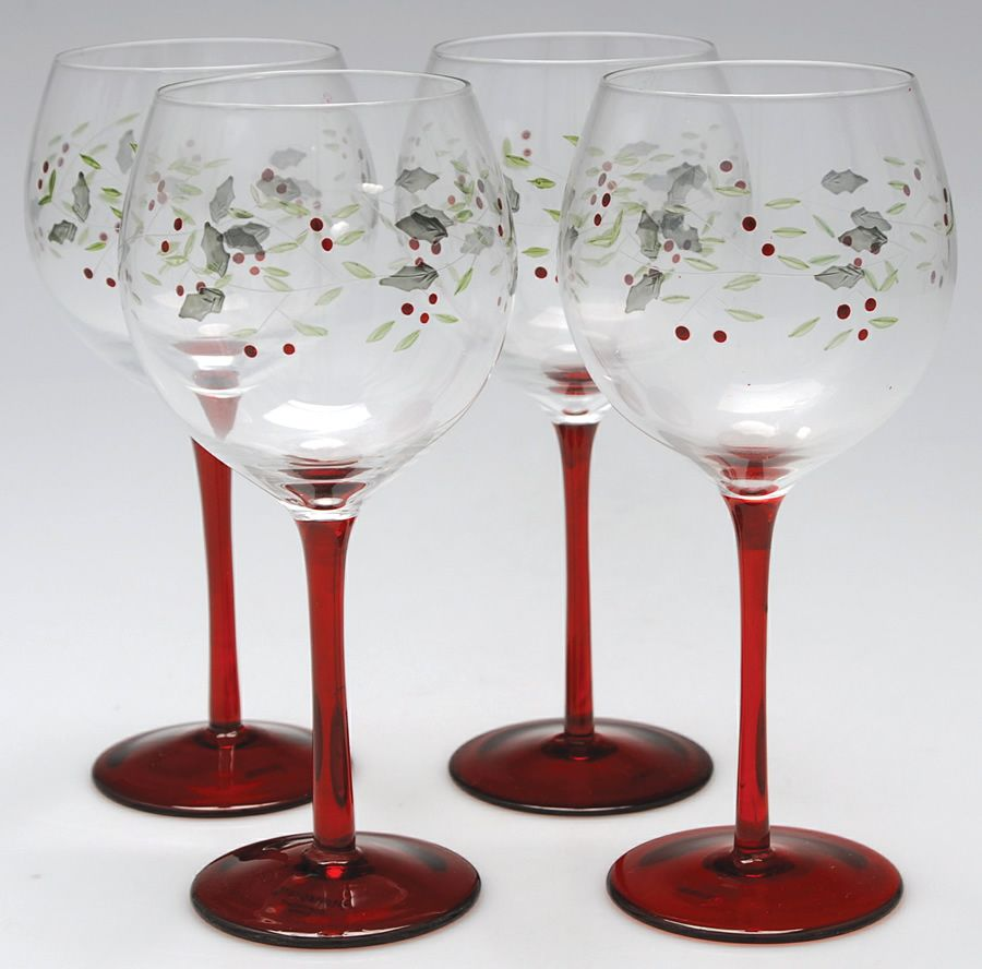 Pfaltzgraff Winterberry 4 Piece Wine Glass Set Amazing