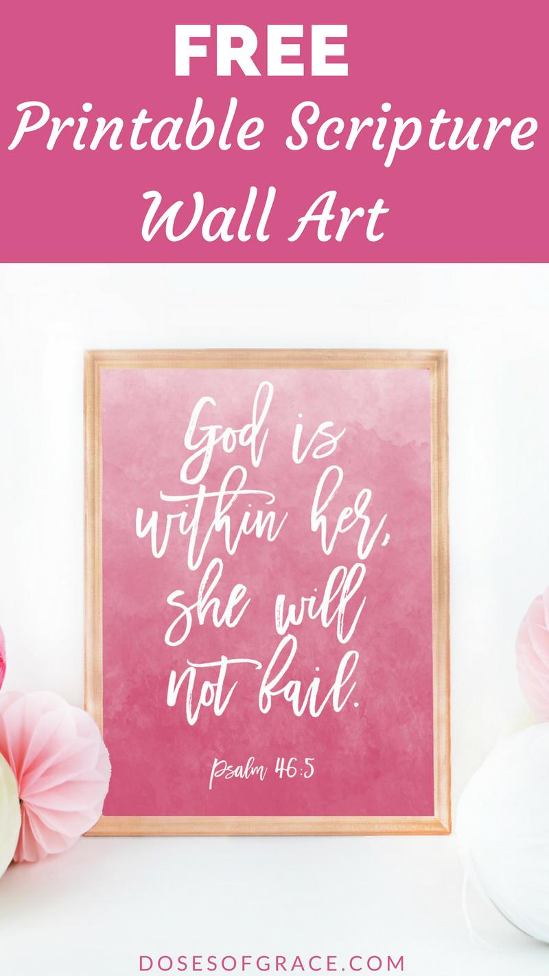 Free scripture printable wall art free printable scripture psalms free scripture printable wall art kristyandbryce Gallery