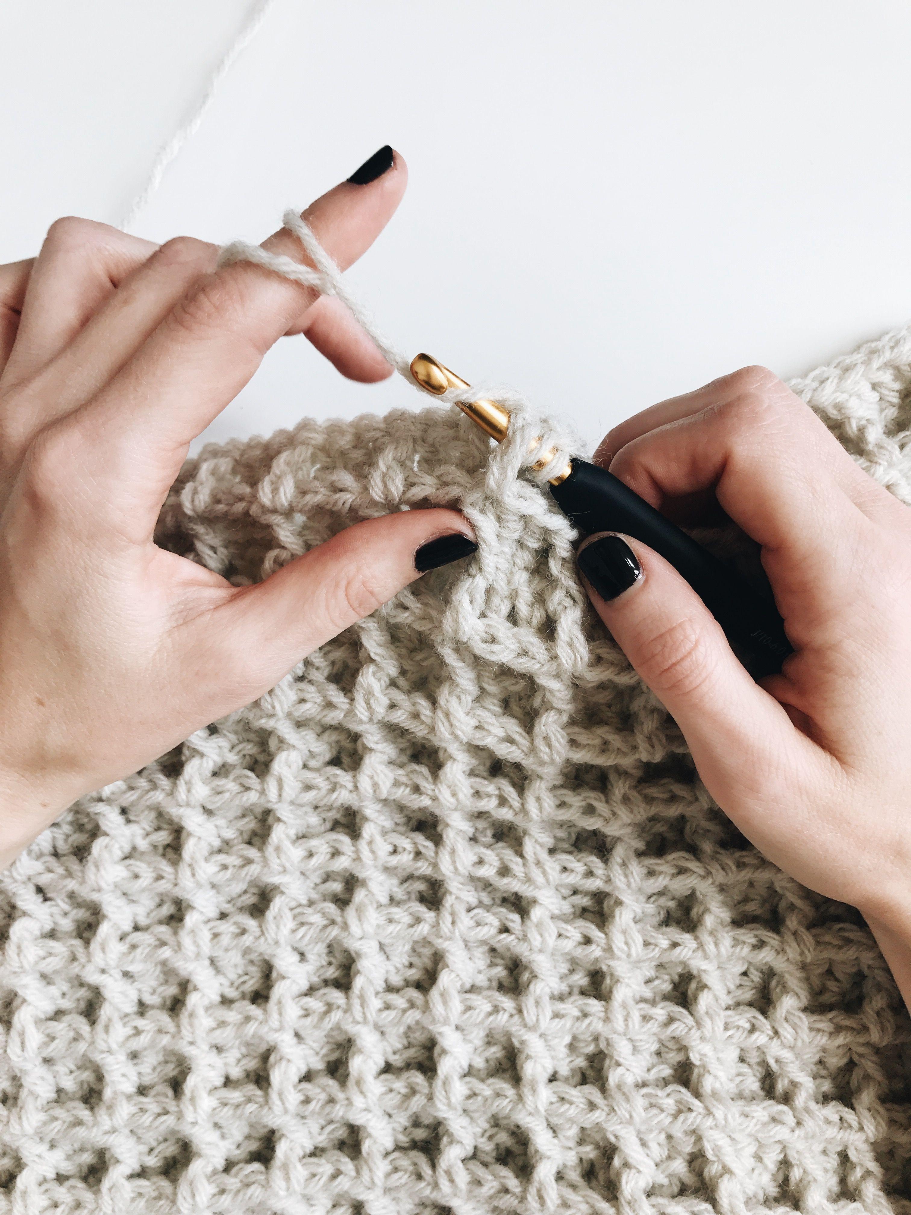 Crochet Waffle Stitch – Stricken ist so einfach wie 1, 2, 3 Das Stricken läuft …