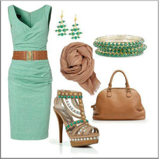 CHATA'S DAILY TIP: Turquoise and stone is a stunning colour combination!  If your arms are short, or in proportion, wear 1 – 3 bracelets. If your arms are long you can wear more! COPY CREDIT: Kirti Singh http://chataromano.com/consultant/kirti-singh/ IMAGE CREDIT: What To Wear Today's Facebook page