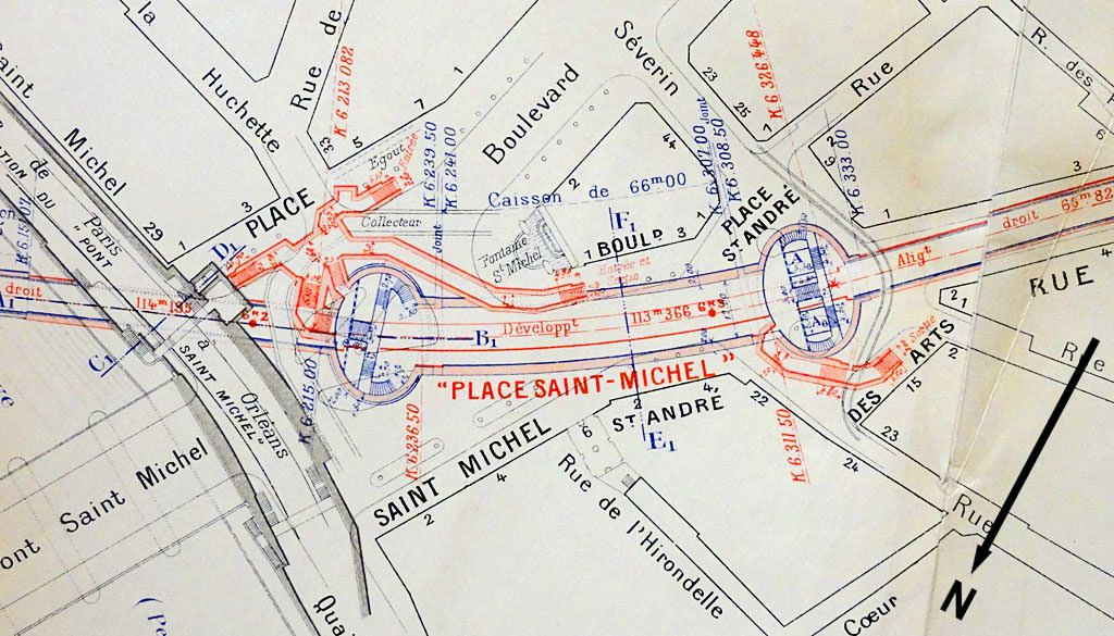 Plan de la station de m tro saint michel ratp maps - Metro saint michel paris ...