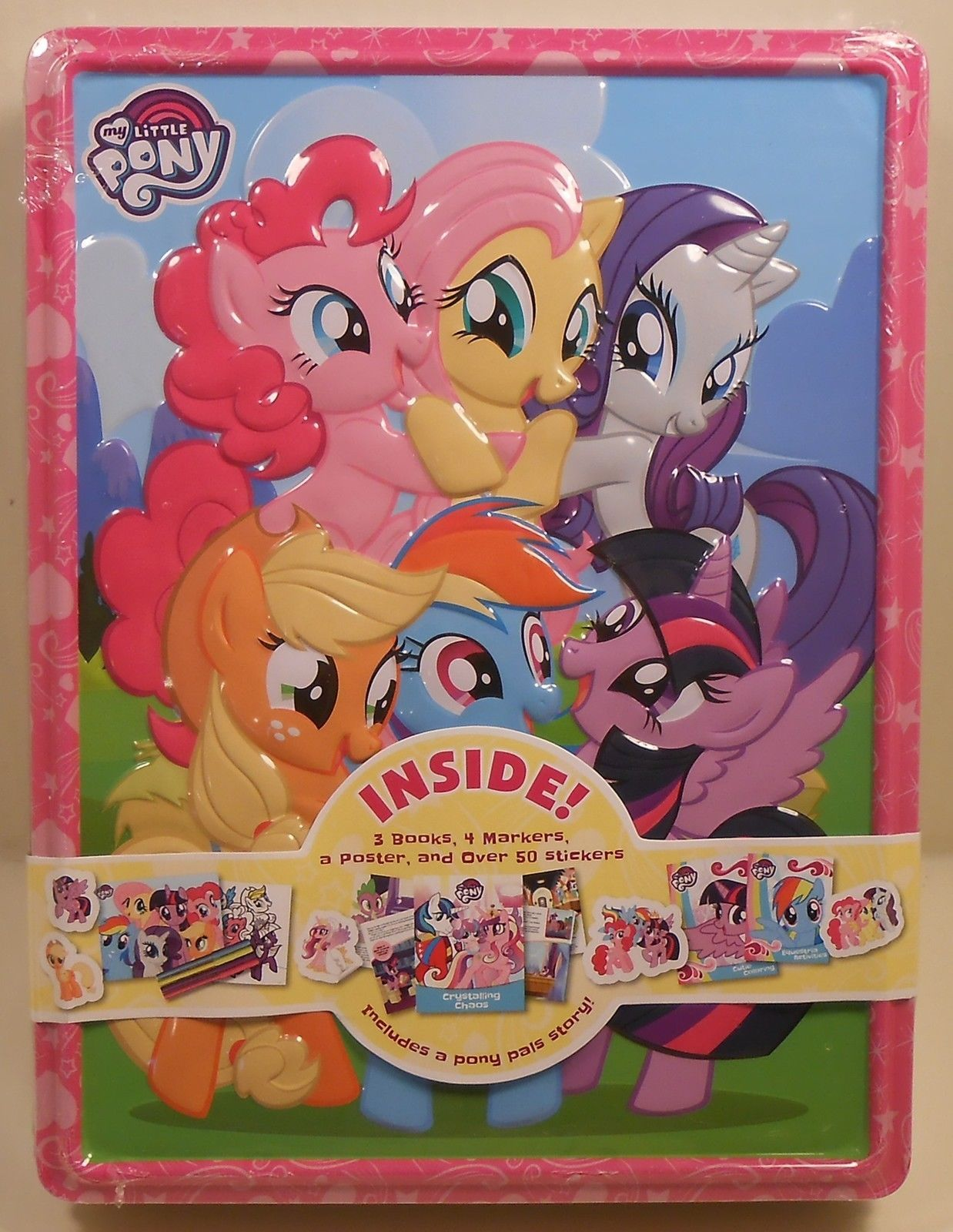 Activity Tin Set My Little Pony Books Coloring Markers Poster Stickers Case My Little Pony Decorations Girls Xmas Gifts Baby Dolls For Kids