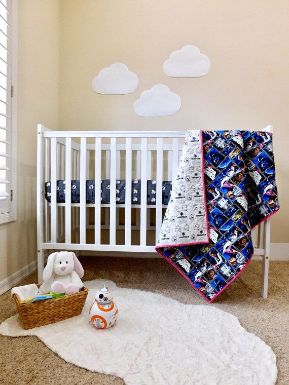 Star Wars Crib Quilt Star Wars Nursery By Babyquiltsbyromiw Star Wars Nursery Nursery Cribs