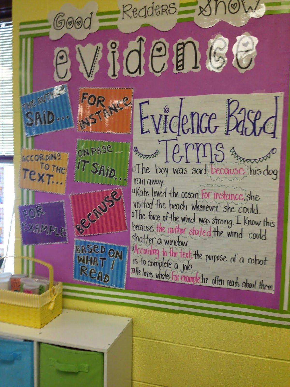 Showing Evidence Freebies