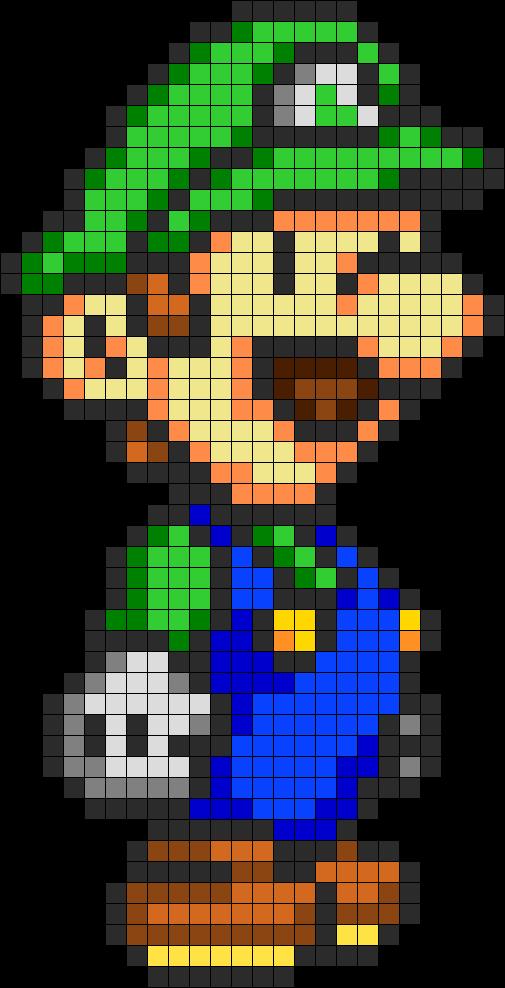 Luigi Perler Bead Pattern Dessin Carreau Dessin Pixel Et