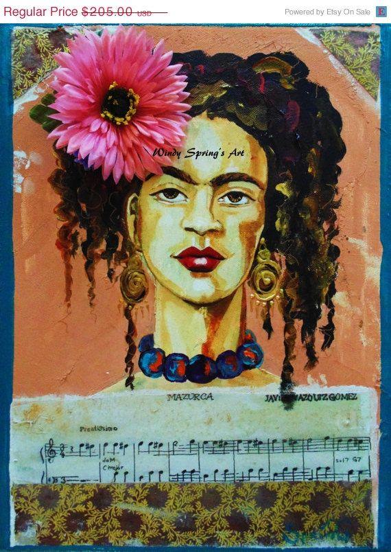 ON SALE Frida Kahlo La Llorona by Spring 12x16 by windyspringsart, $164.00
