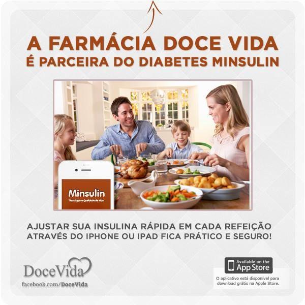 Agora a Farmácia Doce Vida é parceira do Diabetes Minsulin, saiba mais sobre esse aplicativo aqui: www.minsulin.com.br
