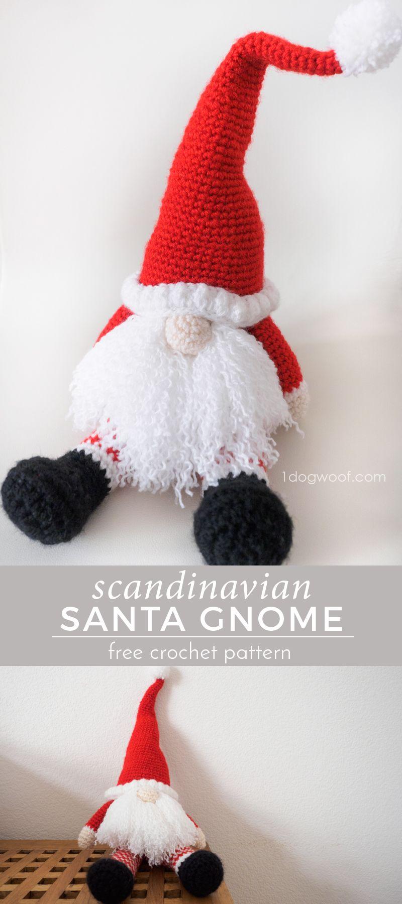 Scandinavian santa gnome amigurumi free crochet gnomes and santa scandinavian santa gnome amigurumi bankloansurffo Image collections