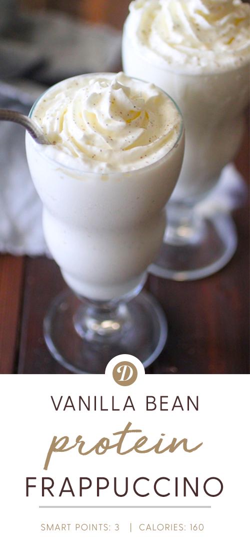 Vanilla Bean Protein Frappuccino #proteinshakes