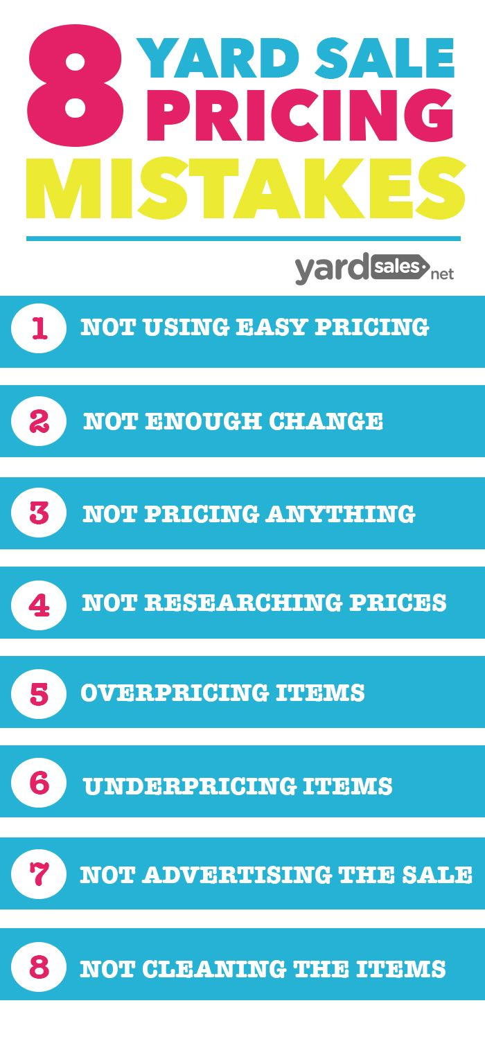 8 Yard Sale Pricing Mistakes That Most People Make, But