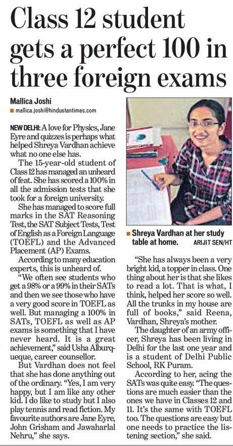 Shreya Vardhan - what an amazing young woman!