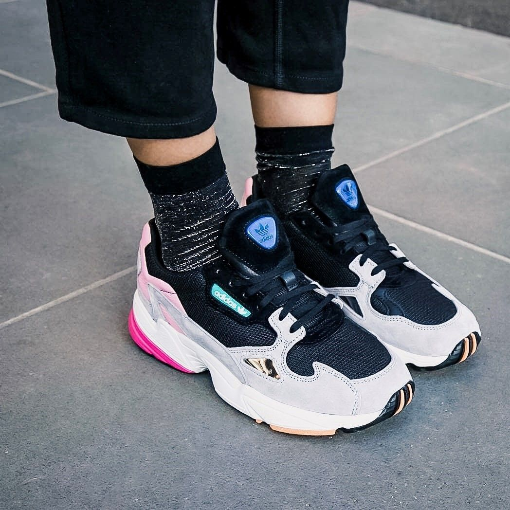 Back to school trendy shoes: Adidas Falcon </p>                     </div>   <!--bof Product URL --> <!--eof Product URL --> <!--bof Quantity Discounts table --> <!--eof Quantity Discounts table --> </div>                        </dd> <dt class=