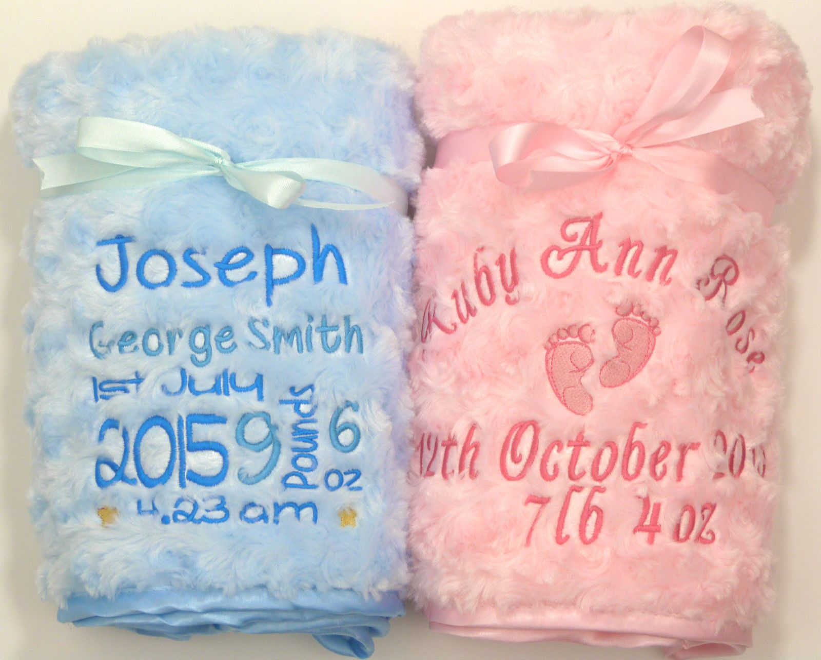 Personalised Luxury Baby Blanket Princess Prince Fluffy Soft Embroidered Gift