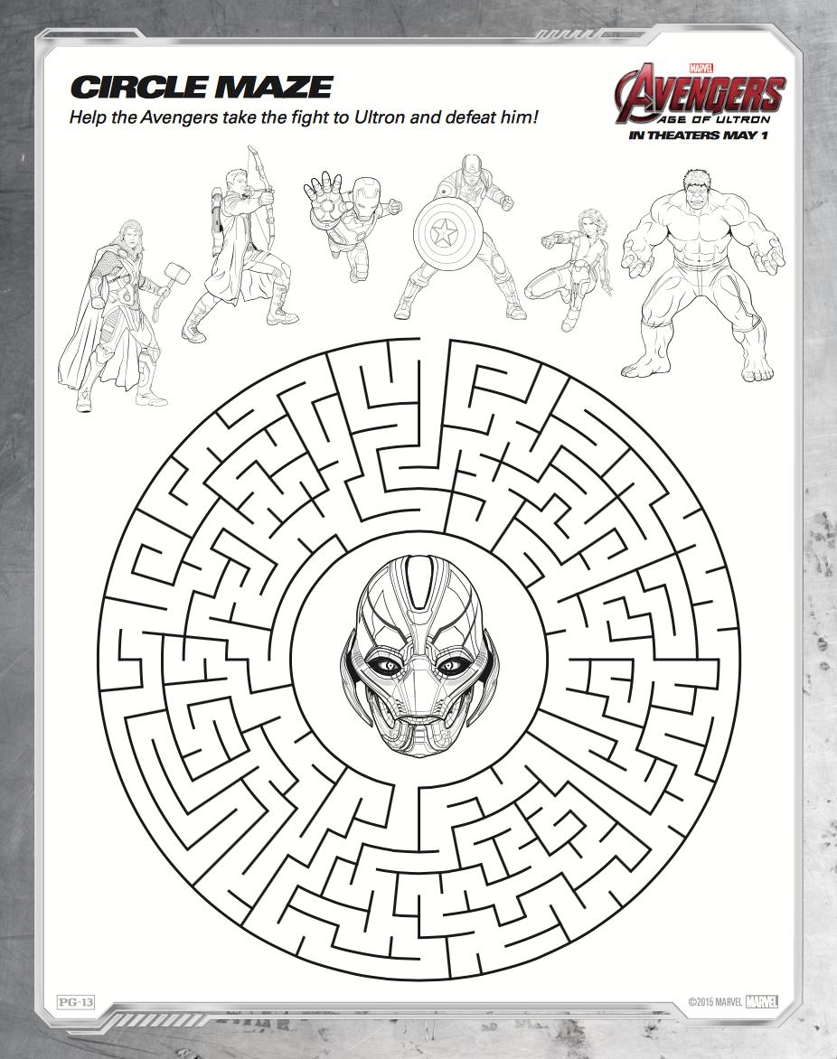 circle-maze-avengers-ultron.png (926×1172) | vengadores | Pinterest ...