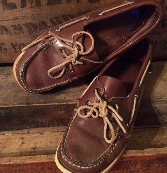 Vintage Estate Dockside by Sebago Boat Shoes Size by