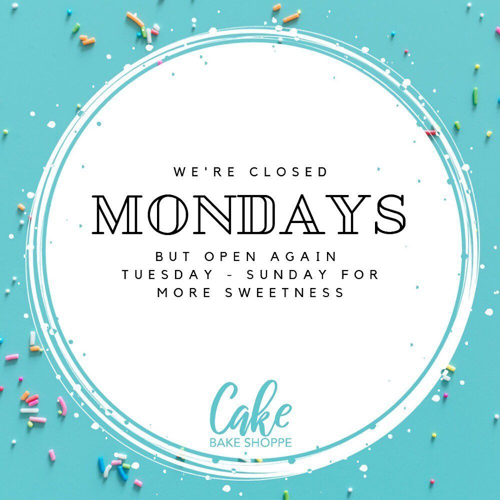 We're closed Mondays but open for more sweetness tomorrow! . . .