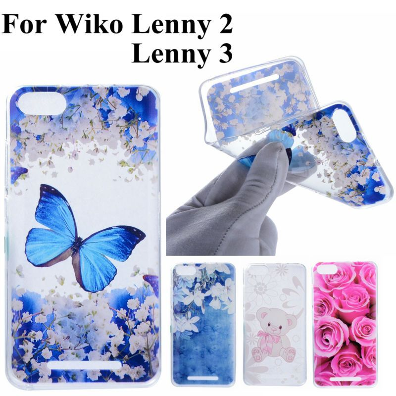 For Coque Wiko Lenny 2 Wiko Lenny 3 Cases Rose Butterfly Cute Bear ...