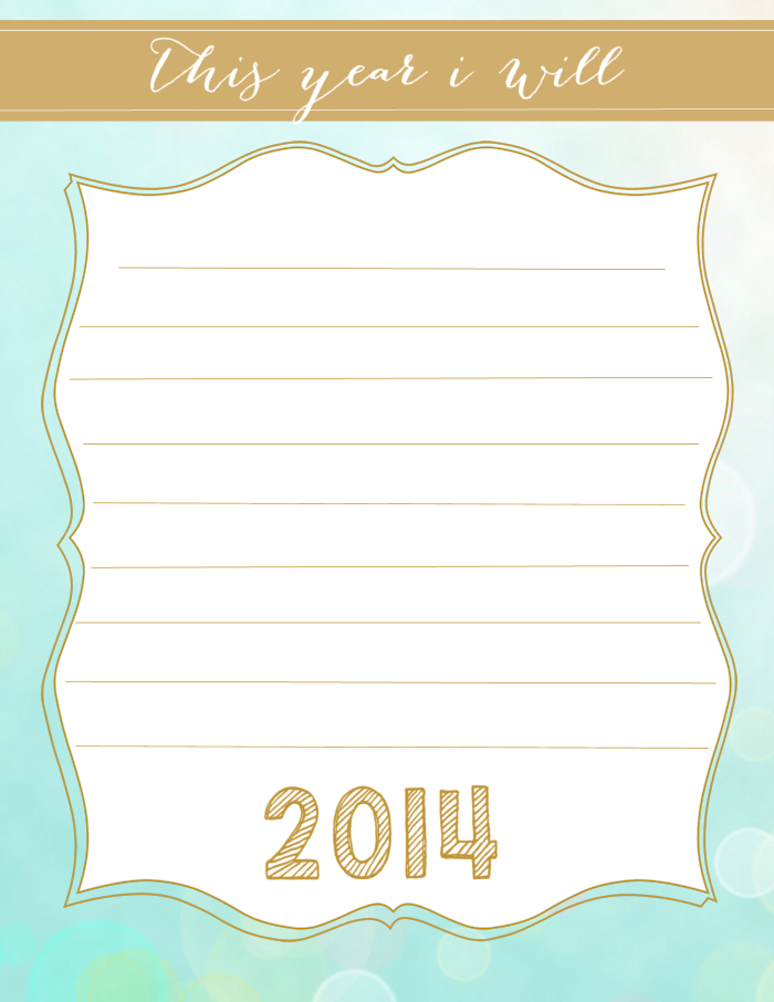 Printable New Year S Resolution The Girl Creative Newyear New Years Resolution Journal Cards