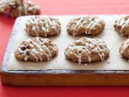 Cranberry Pecan Oat Cookies with Bourbon Glaze