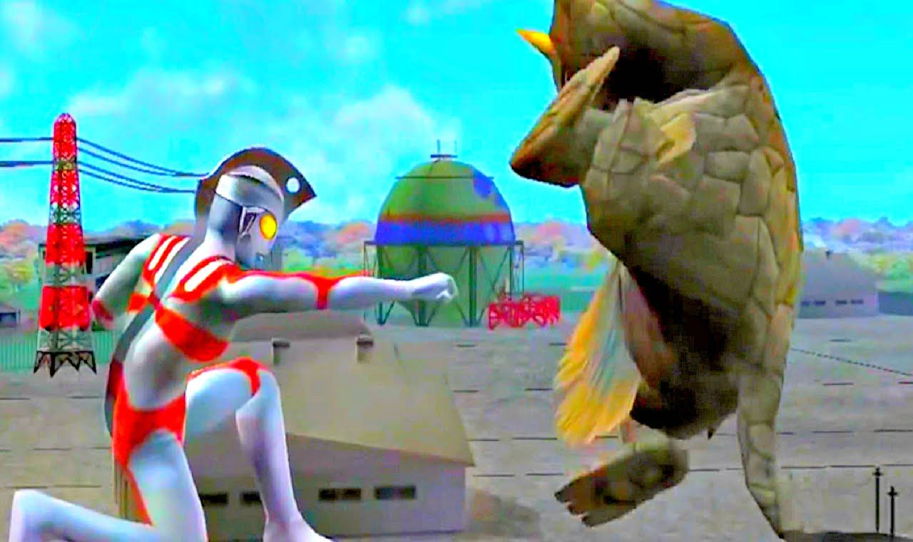 Ultraman Fighting Evolution  Ps2 Cool Gameplay Compilat