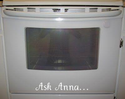 How to clean BETWEEN the glass in oven door.  I NEEDED THIS!