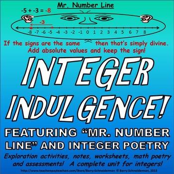 Integers Unit - Subtracting, Adding, Dividing, Multiplying, Word ...