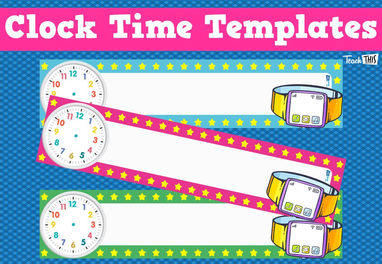 Clock Timetable Templates Units Of Measurement Pinterest