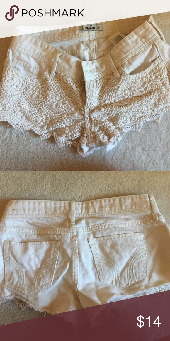 Clothing, Shoes & Accessories Hollister Crochet Front Shorts Size 26 Women's Clothing