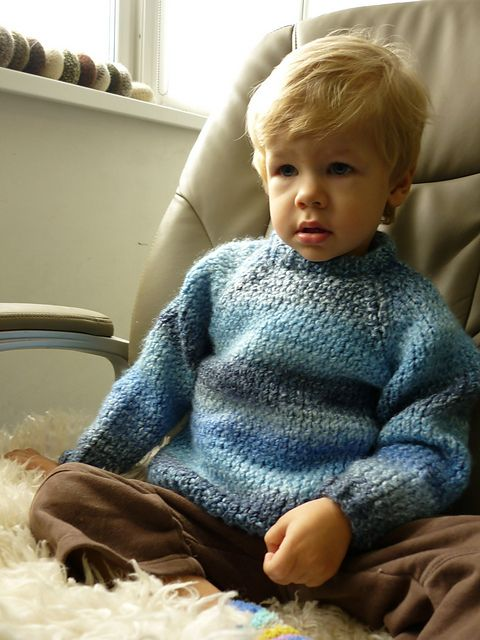 Chunky Raglan Pullover For Toddler Pattern By Julia Biryukova