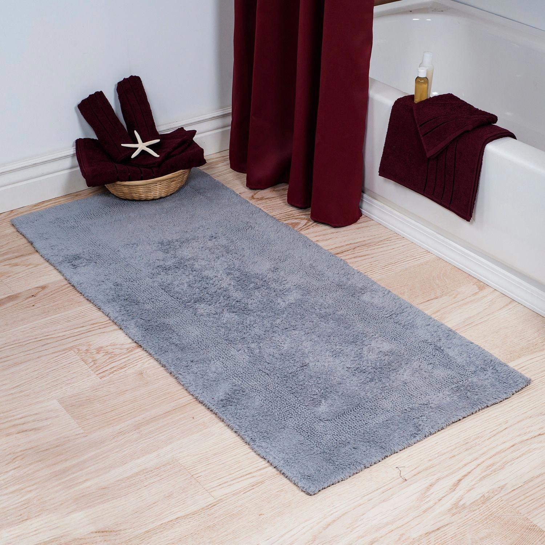 Silver Reversible Bathroom Runner Large Runnerrugs Long Bath Rugs Cotton Bath Rug Bath Rug [ 1500 x 1500 Pixel ]