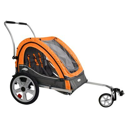 2 In 1 Durable Pet Dog Bicycle Trailer Stroller Jogger Damping