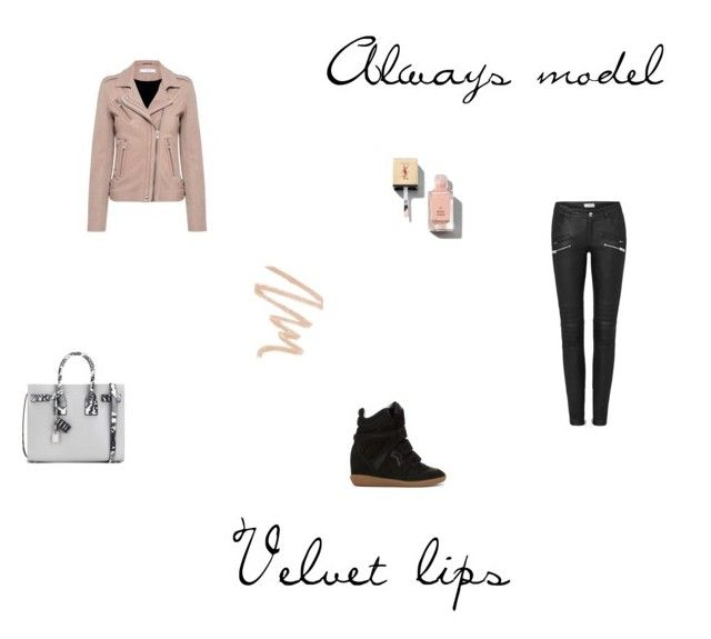 Velvet lips by sofialiu on Polyvore featuring polyvore, fashion, style, IRO, Isabel Marant, Yves Saint Laurent, NARS Cosmetics and clothing