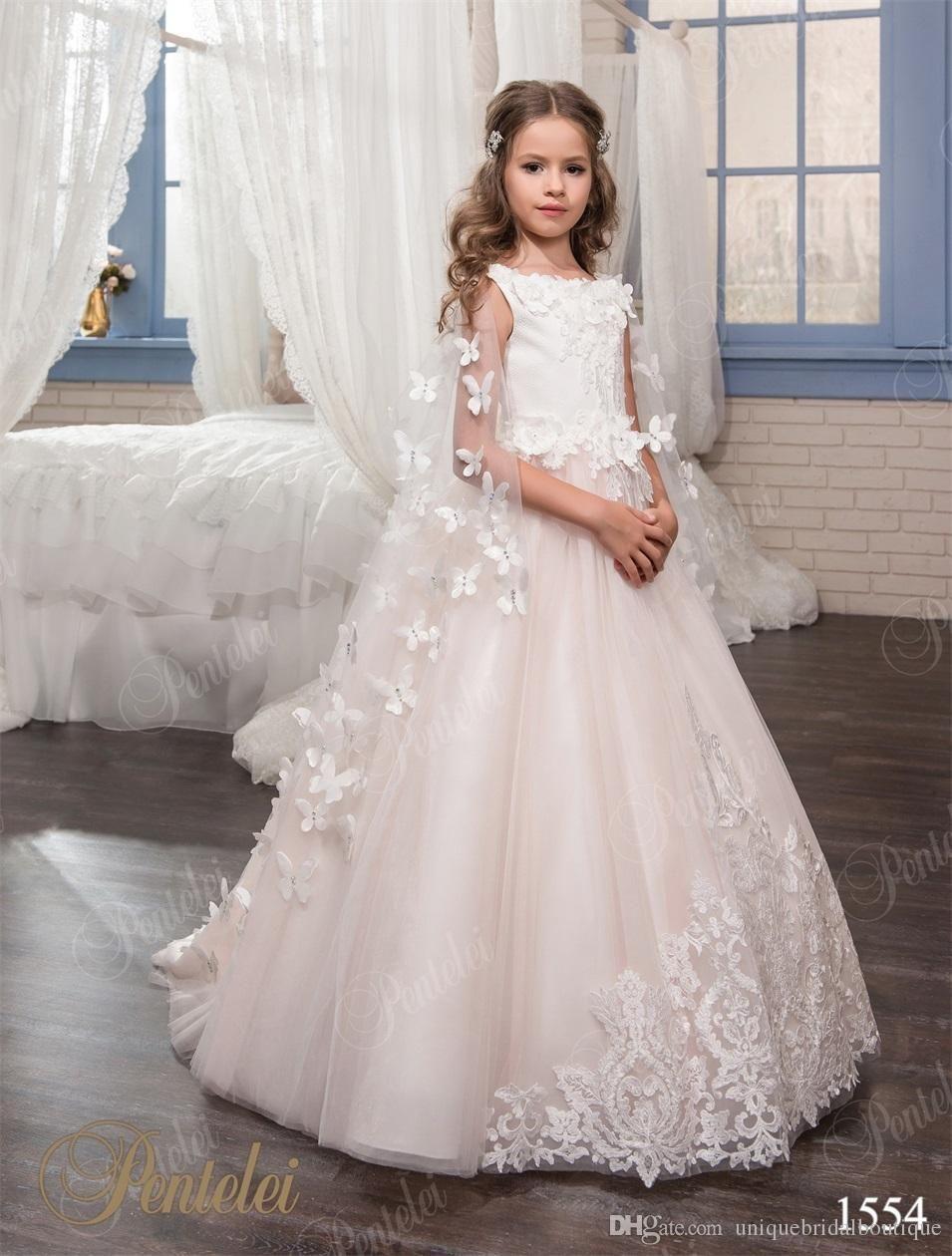 Los niños vestidos de boda con la mariposa Wraps 2017 Pentelei Hecho ...