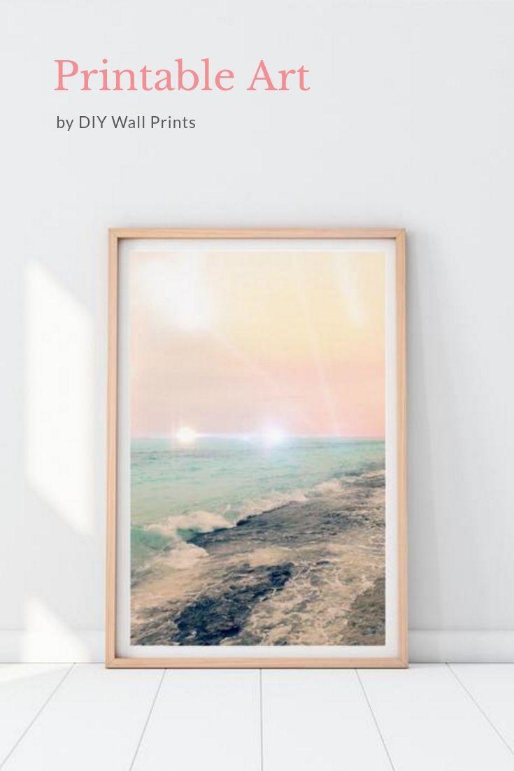 Coastal Wall Art Abstract Ocean Art Ocean Printable Print Sea