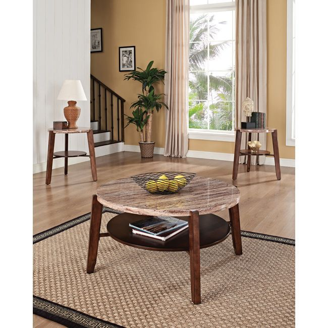 Add A Lovely Touch To Your Home Decor With This Faux Marble Top Coffee Table