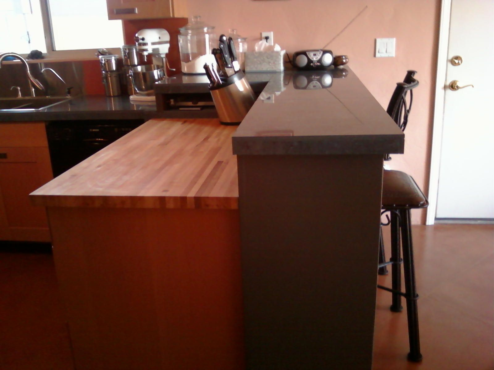 Nice 36 Inch Base Up Against 42 Inch Wall, To Create Bar Peninsula. Butcher  Block KitchenButcher Block CountertopsButcher ...