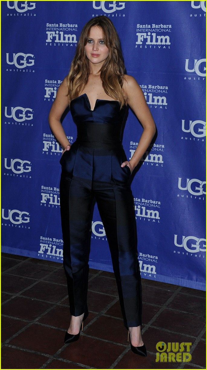 Adore this Stella McCartney jumpsuit. It's beautiful. (As is J-Law)