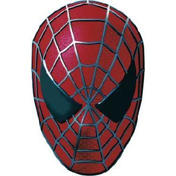 Geeky image within spiderman mask printable