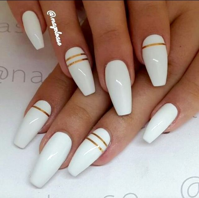 Discover ideas about Long White Nails - Pin By Emmi Phillips On Acrylic Nails Pinterest