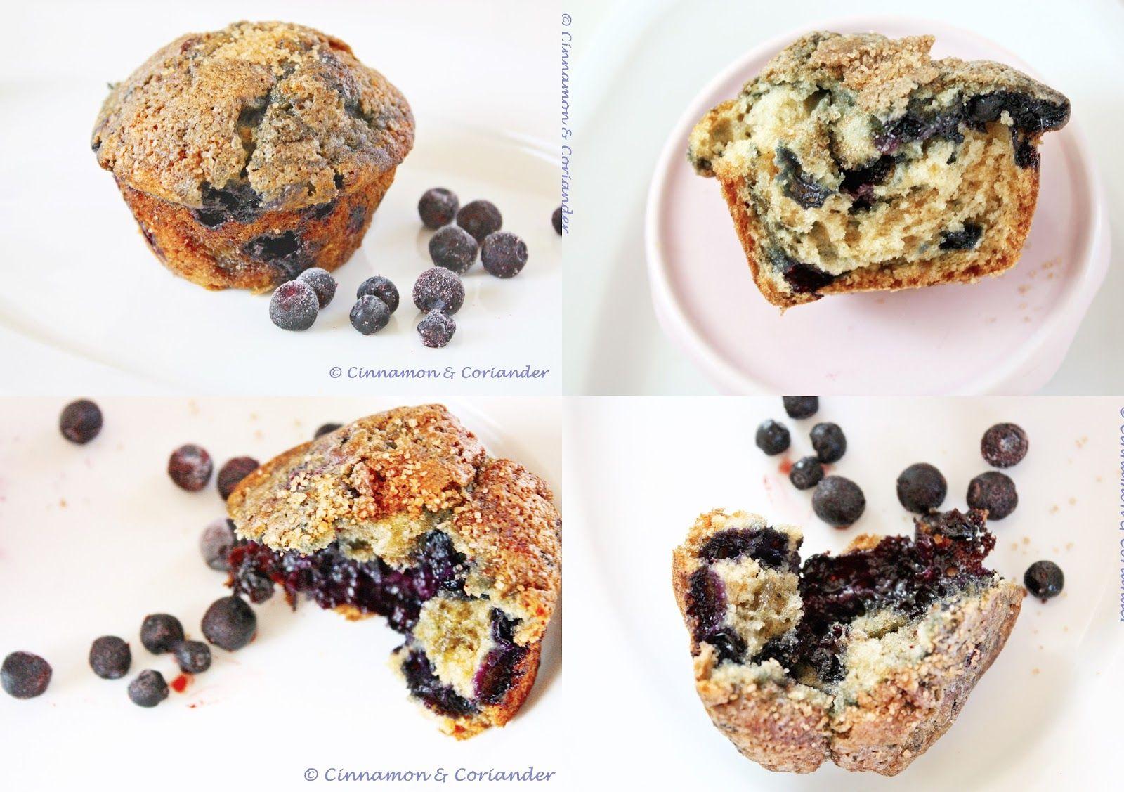 Brown Sugar Streusel Blueberry Muffins