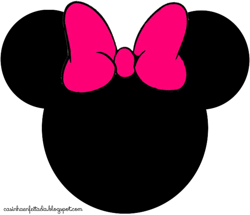 Minnie Mouse Head 3 Cliparts Minnie Mouse Silhouette