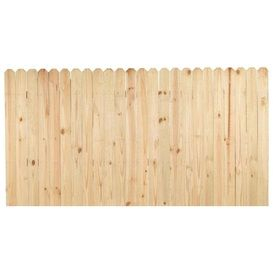 Shop Pine Dog Ear Pressure Treated Wood Fence Privacy Panel Common 4 Ft X 8 Ft Actual Fence Panels Wood Fence Pressure Treated Wood