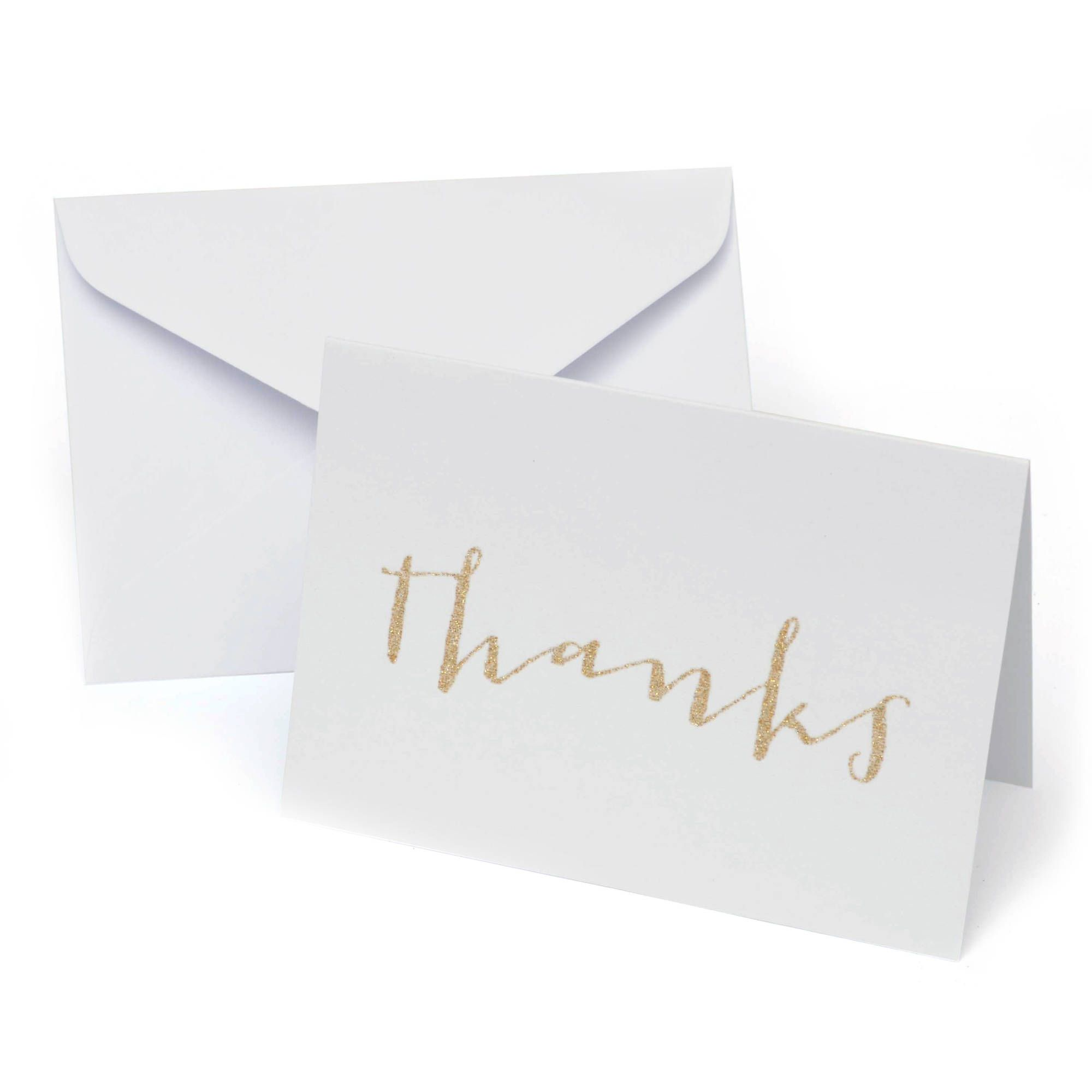 Platinum Glitter Thank You Cards 50ct Thank You Cards Glitter