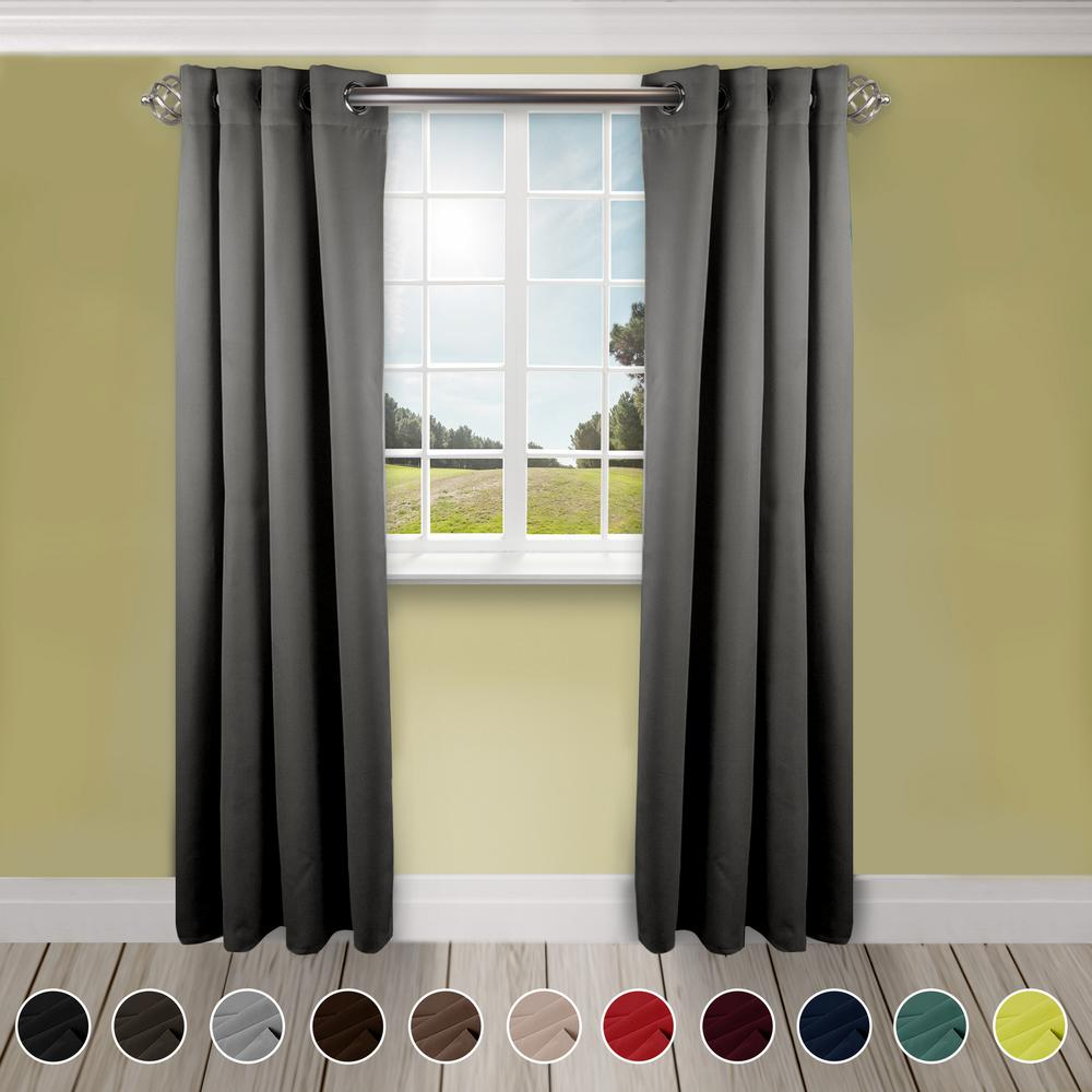 Rod Desyne Heavy Duty Drapery 52 In W X 84 In H Panel In Light Grey T10 052084 Panel Curtains Curtains Grey Room