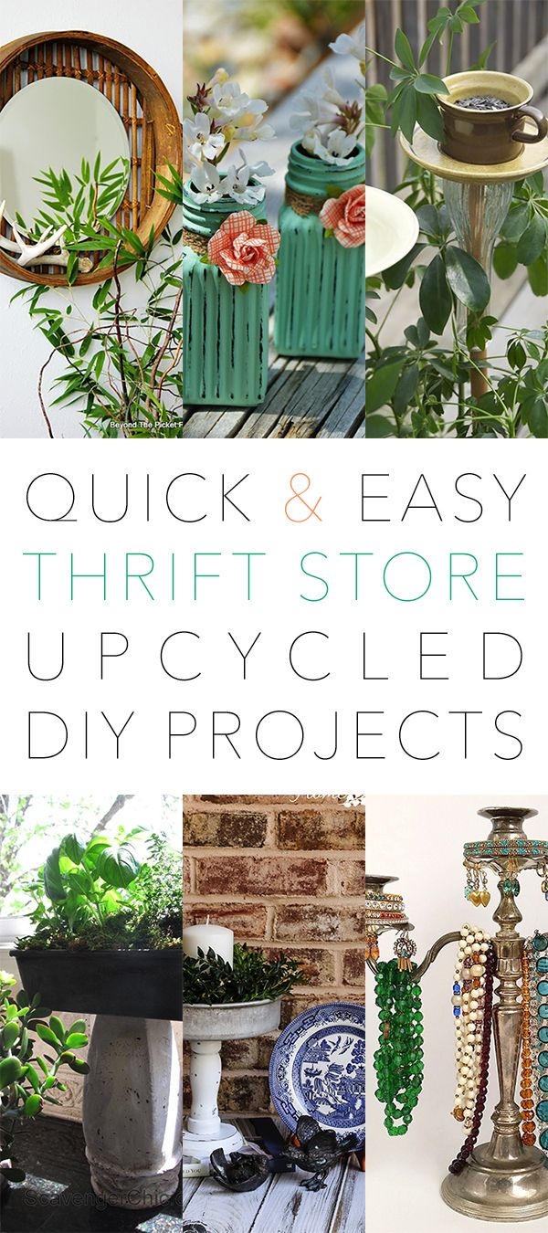 Quick and Easy Thrift Store Upcycled DIY Projects  Page 11 of 11  DIY  Decor  Thrift store