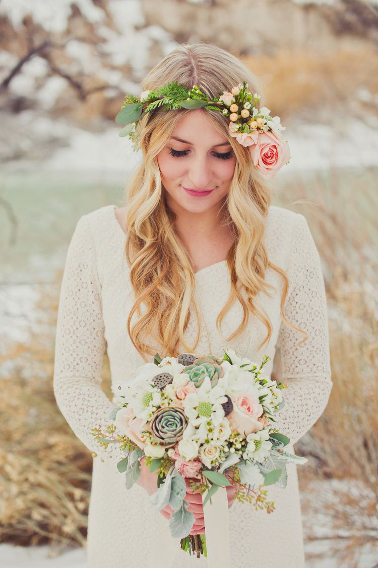 Boho chic style clothing wedding hairstyles