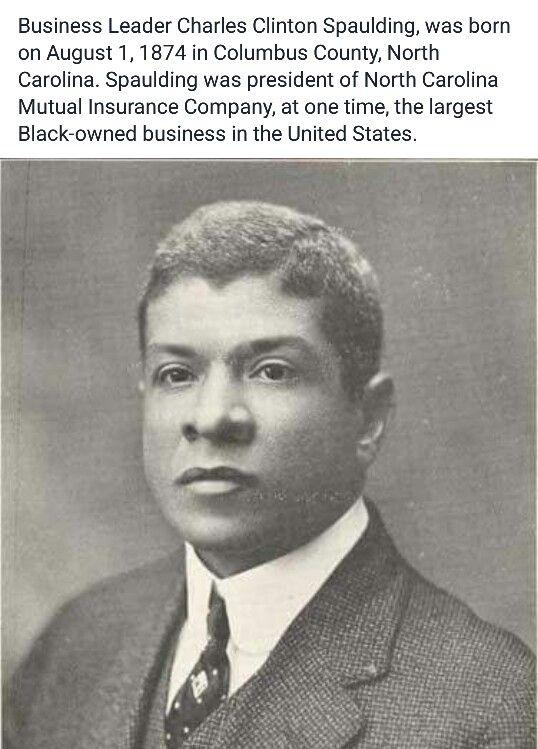 Charles Spaulding, North Carolina Mutual Insurance Founder ...
